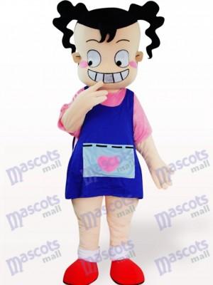 Dibujos animados de niña fea Disfraz de mascota