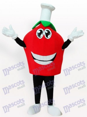 Fresa roja sonriente Disfraz de mascota