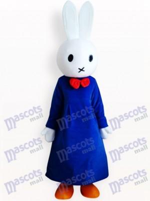 Conejo Miffy en vestido azul Disfraz de mascota Animal