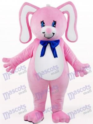 Conejo de Pascua rosa con orejas florales Disfraz de mascota Animal