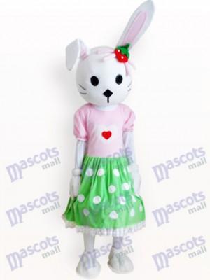 Conejito de Pascua con Vestido Verde Disfraz de mascota Animal