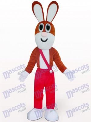 Conejo de Pascua en pantalones rojos Disfraz de mascota Animal