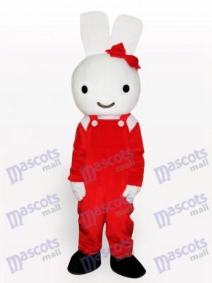 Conejo de Pascua en traje rojo Disfraz de mascota Animal