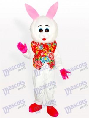 Conejito de Pascua del Este en Chaleco Floriado Disfraz de mascota Animal