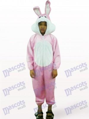Pascua Conejo Rosado Cara abierta Niños Disfraz de mascota Animal
