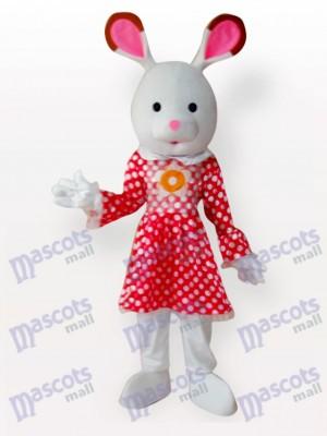 Conejo de Pascua con Vestido Rojo Disfraz de mascota Animal