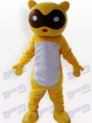 Mapache amarillo adulto Disfraz de mascota Animal