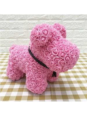 Rosa Perro cachorro rosa Perro Cachorro Flor El mejor regalo para el Día de la Madre, San Valentín, Aniversario, Bodas y Cumpleaños