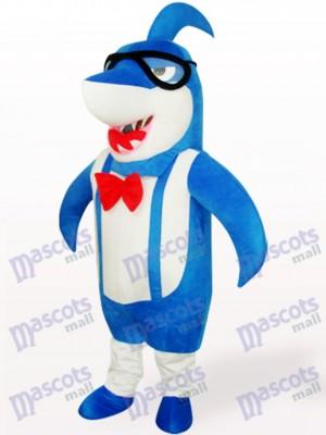 Tiburón cabeza grande azul adulto Disfraz de mascota