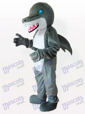 Tiburón de ojos azules adulto Disfraz de mascota