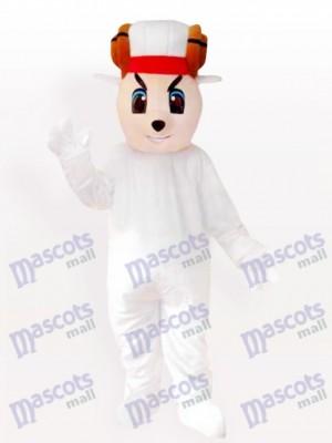Oveja Blanca Feliz Disfraz de mascota Animal