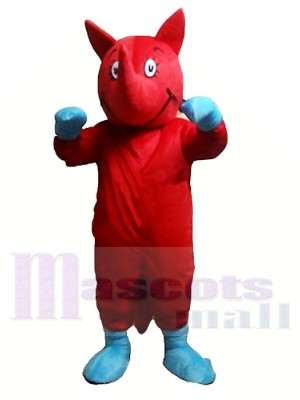 Rinoceronte rojo Disfraz de mascota