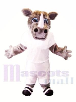 Rinoceronte deportivo ligero Disfraz de mascota