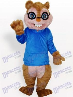 Ardilla en abrigo azul Disfraz de mascota Animal