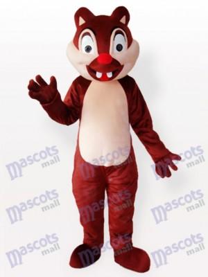 Pequeña ardilla marrón con dos incisivos Disfraz de mascota Animal