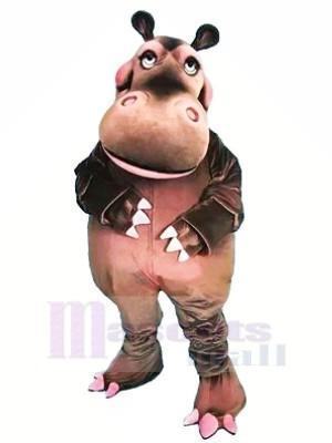 Hipopótamo feliz Disfraz de mascota