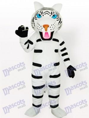 Tigre blanco con ojos azules Disfraz de mascota Animal