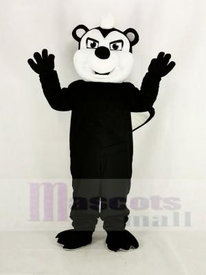 Mofeta negra apestosa realista Disfraz de mascota