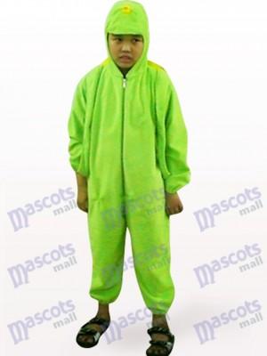 Tortuga verde cara abierta para niños Disfraz de mascota