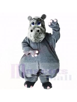Hipopótamo gris ligero Disfraz de mascota