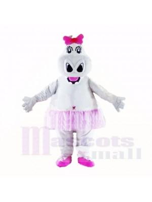 Hipopótamo niña con lazo rosa Disfraz de mascota