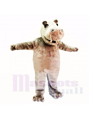 Hipopótamo ligero amistoso sonriente Disfraz de mascota