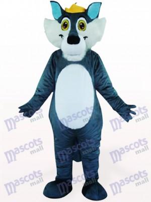 Lobo gris con ojos azules Disfraz de mascota Animal