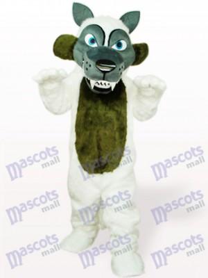 Lobo de pelo largo blanco Disfraz de mascota Animal