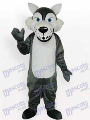 Lobo gris sonriente Adulto Disfraz de mascota Animal