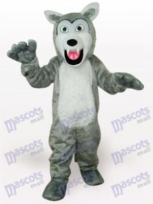 Lobo gris gracioso Adulto Disfraz de mascota