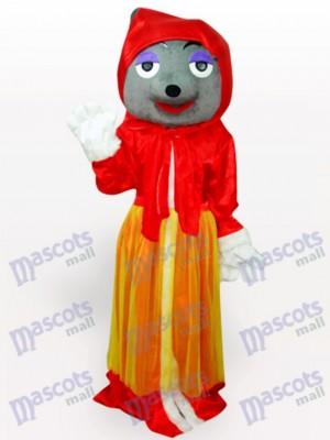 Lobo rojo adulto Anime Disfraz de mascota