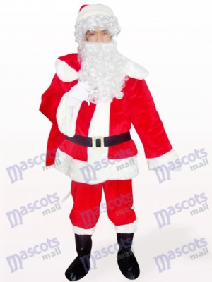 Cara abierta de Santa Papa Noel rojo Navidad navidad Disfraz de mascota
