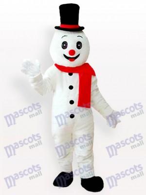 Muñeco de nieve sonriente Navidad navidad Disfraz de mascota