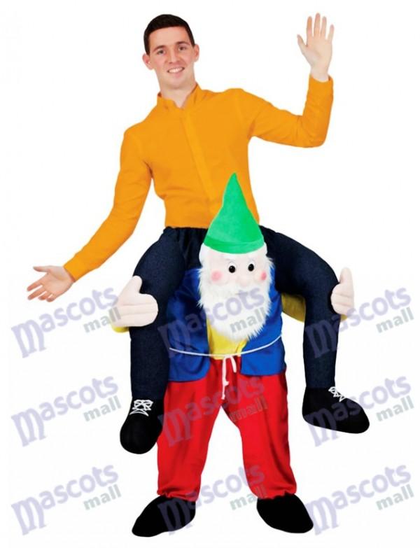 Llévame Gnomo de jardín de hombro trasero Paseo a cuestas en Disfraz de mascota