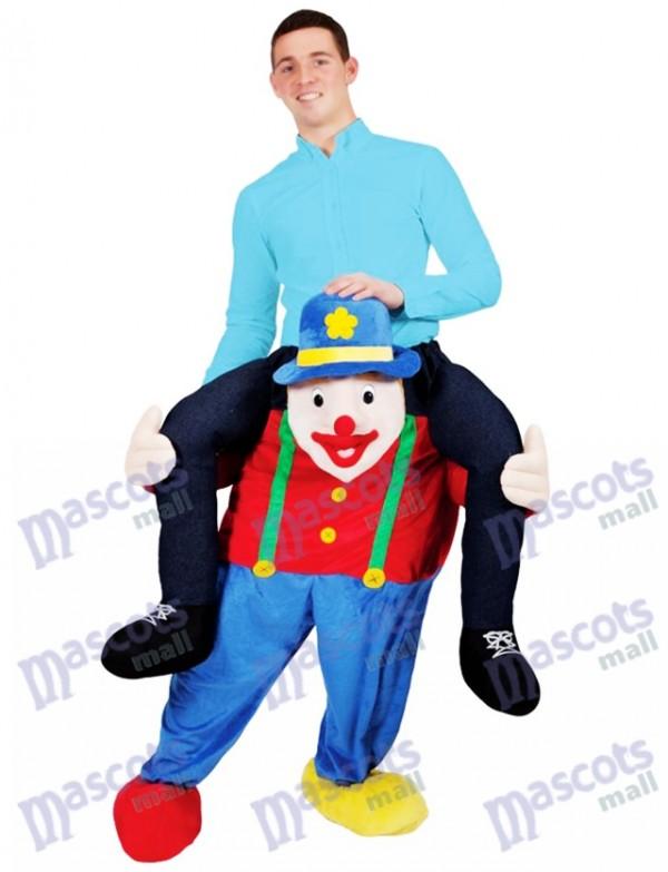 Llévame Traje de ilusión Payaso de circo a cuestas Paseo en disfraces