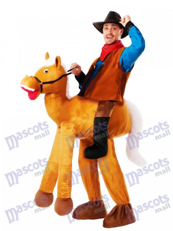 Caballo poni a cuestas Llévame Paseo a caballo Disfraz de mascota
