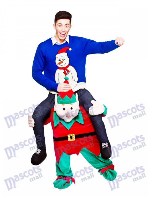 Llévame A cuestas Montar en elfo novedoso Disfraz de mascota