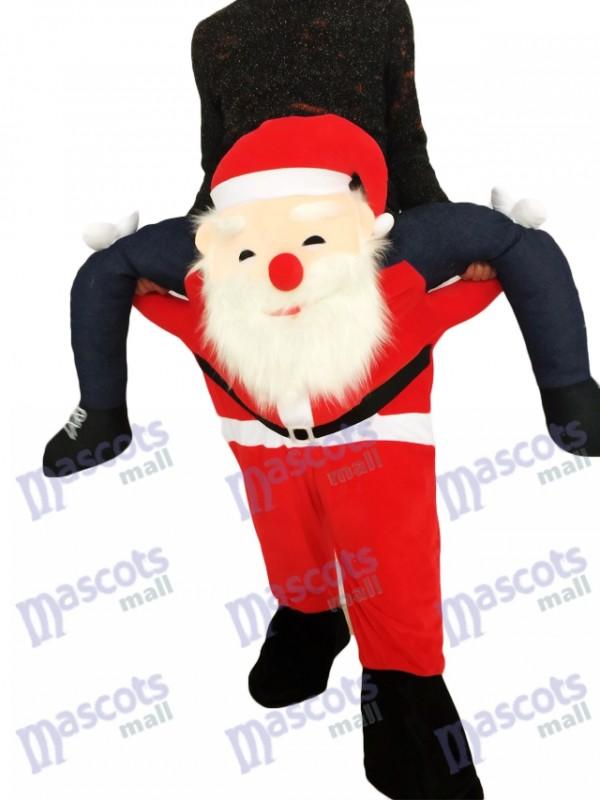 Papá Noel a cuestas Llévame Seguir adelante Papá Noel Disfraz de mascota