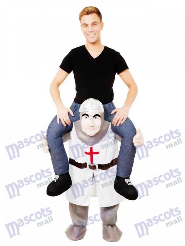Las cruzadas a cuestas Llévame Seguir adelante Caballero cruzado Disfraz de mascota