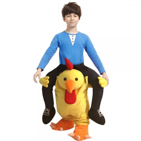 Pollo amarillo llévameSeguir adelante Halloween Navidad Disfraz para adulto/niño