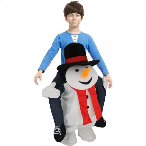Lindo muñeco de nieve llévame Seguir adelante Halloween Navidad Disfraz para adulto/niño