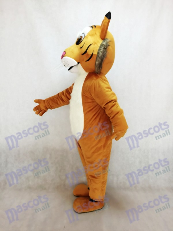 Bobcat amistoso sonriente Disfraz de mascota Animal