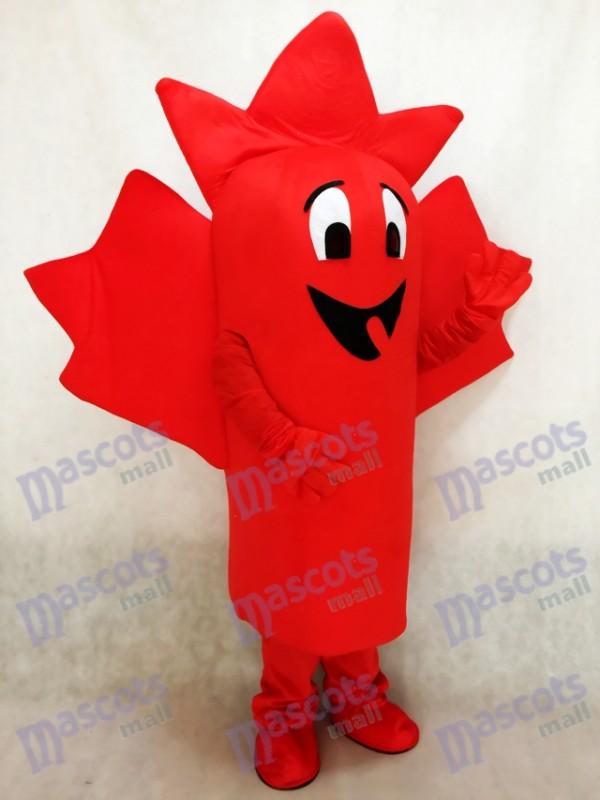 Hoja de arce roja Disfraz de mascota planta