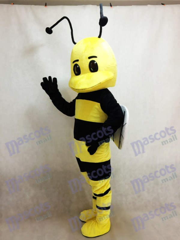 alegre abeja amarilla y negra Disfraz de mascota Insecto