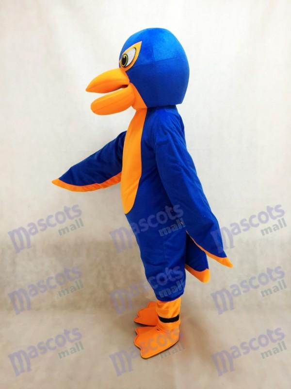 Amistoso halcón azul real y naranja Disfraz de mascota Animal