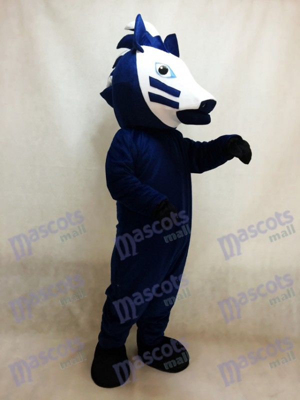 Caballo negro con crin azul Disfraz de mascota Animal