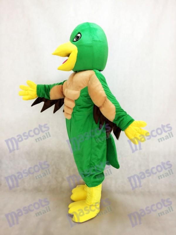 Poderosa Águila Verde y Amarilla Disfraz de mascota Animal