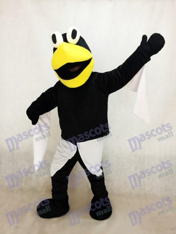 Pete pingüino con pico amarillo grande Disfraz de mascota Animal