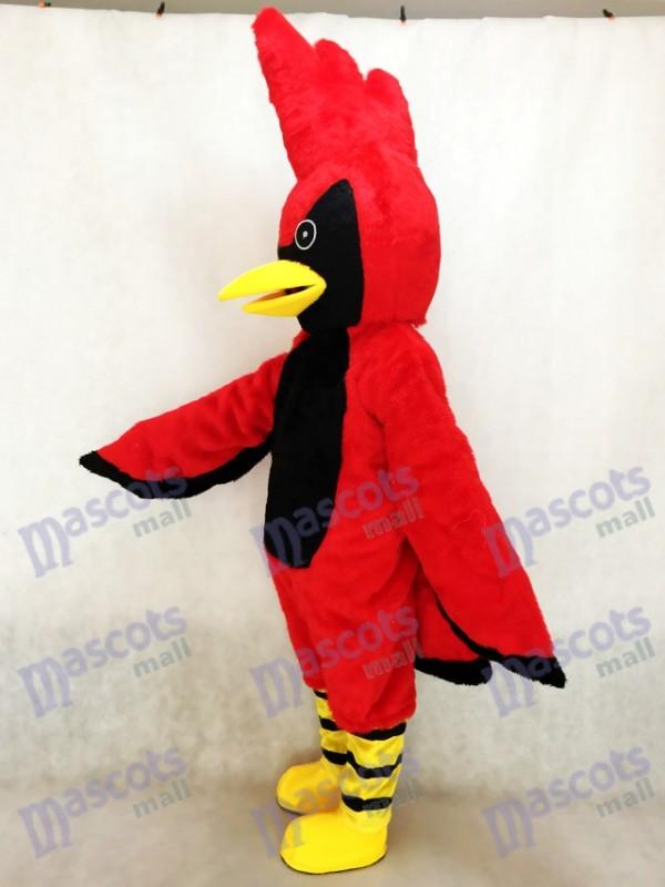 Águila negra y roja amistosa Disfraz de mascota Animal