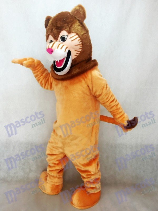 León con melena marrón oscura Disfraz de mascota Animal